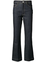 Zadig And Voltaire Jean Pistol Cropped Jeans Blue