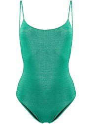 Mc2 Saint Barth Cecille Glitter Swimsuit Green