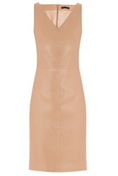 The Row Zilton V Neck Leather Dress