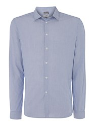 Linea Jappic Ticking Stripe Long Sleeved Shirt Blue