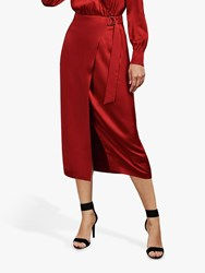 Ted Baker Vernada Wrap Midi Skirt Red