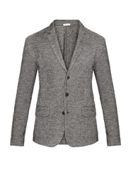 Tomas Maier Herringbone Cotton And Wool Blend Blazer