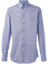 Dolce And Gabbana Printed Shirt Blue