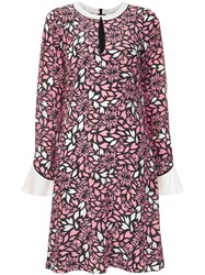 Dorothee Schumacher Floral Print Dress Pink And Purple