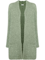 Closed Open Front Cardigan Green