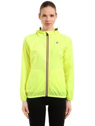 K Way Le Vrai 3.0 Claudette Nylon Jacket Yellow