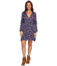Rock And Roll Cowgirl Bell Sleeve Dress D4 4750 Night Sky Blue