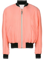 Haider Ackermann Striped Bomber Jacket Yellow And Orange