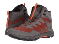 The North Face Ultra Fastpack Iii Mid Gtx R Scarlet Ibis Dark Gull Grey Shoes Gray