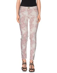 Shine Denim Denim Trousers Women White