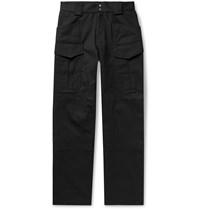 Affix Twill Cargo Trousers Black