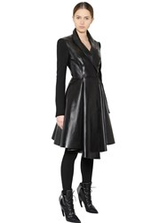 Givenchy Wool Twill And Nappa Leather Coat