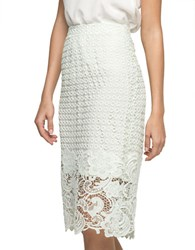 Andrew Marc New York Jennifer Armor Lace Pencil Skirt Light Mint