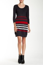 Sandra Darren Scoop Neck Sweater Dress
