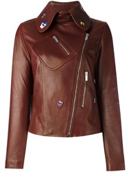 Christopher Kane Embroidered Cropped Jacket Brown
