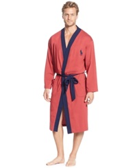 Polo Ralph Lauren Men's Brushed Jersey Robe Avenue Red