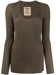 Uma Wang Slim Fit Cashmere Jumper Brown