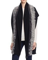 Ugg Luxe Scarf With Shearling Sheepskin Black