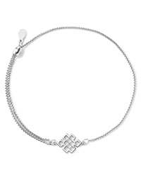 Alex And Ani Precious Metals Symbolic Endless Knot Pull Chain Bracelet Sterling Silver