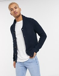Jack And Jones Originals Shawl Neck Knitted Cardigan In Navy