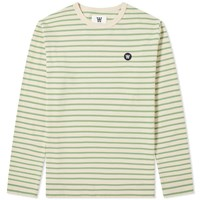 Wood Wood Long Sleeve Mel Stripe Tee Green
