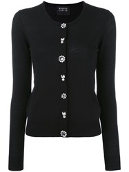 Markus Lupfer Crystal Button Cardigan Women Plastic Merino M Black