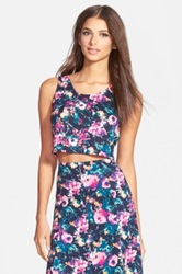 Leith Tropical Print Sleeveless Top Juniors Multi
