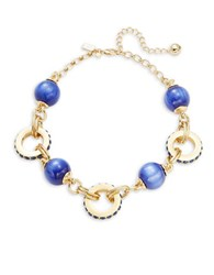 Kate Spade Second Nature Statement Collar Necklace Blue