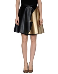 Leitmotiv Knee Length Skirts Gold