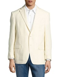 Lauren Ralph Lauren Two Button Linen Jacket White