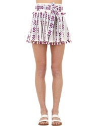 Dodo Bar Or Cotton Jacquard And Lace Skirt W Tassels Multicolor