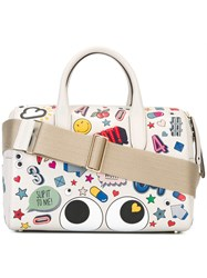 Anya Hindmarch Allover Patches Tote White