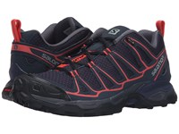 Salomon X Ultra Prime Nightshade Grey Deep Blue Coral Punch Women's Shoes Black