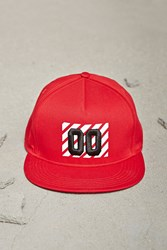 Forever 21 Men 00 Graphic Snapback Hat Red White