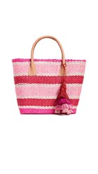 Hat Attack Small Provence Tote Pinky Stripe