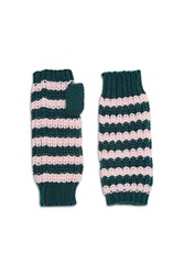 Forever 21 Striped Fingerless Gloves