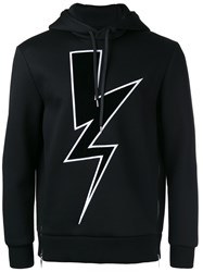 Neil Barrett Lightning Bolt Hoodie Black