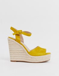 4bd1fc7f04b Aldo Ybelani Platform Heeled Sandals In Yellow