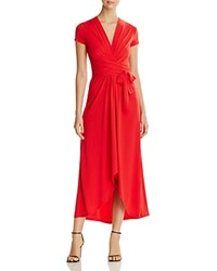 Michael Michael Kors Cap Sleeve Maxi Wrap Dress True Red