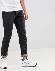 Voi Jeans Deconstructed In Coated Black