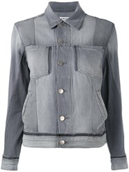 Frame Denim Slip Pockets Jacket Grey