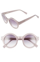 Derek Lam Women's 'Luna' 47Mm Round Sunglasses Pink Dust