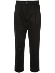 Loveless Cropped Trousers Black