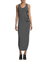 Lord And Taylor Clover Striped Tank Dress Black