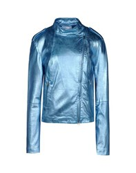 George J. Love Coats And Jackets Jackets Women Sky Blue