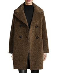 Sofia Cashmere Double Breasted Cocoon Coat Cocoa