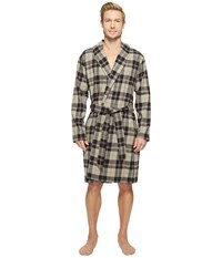 Ugg Jon Plaid Robe Black Plaid Men's Robe