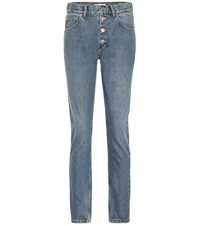 Balenciaga High Rise Straight Jeans Blue
