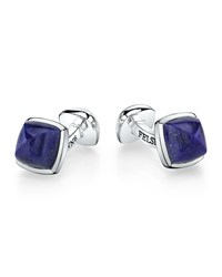 Sterling Silver Sugarloaf Cuff Links Lapis Men's Suzanne Felsen