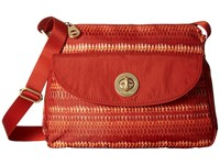 Baggallini Gold Provence Crossbody Flame Print Cross Body Handbags Red